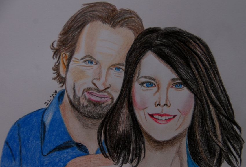 Scott Patterson, Lauren Graham by HamburgGirl